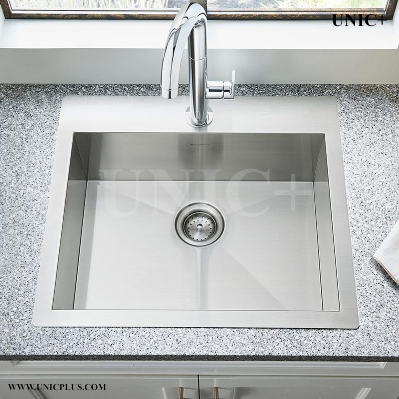 top mounted kitchen sinks 24 inch zero radius stainless steel top mount kitchen sink 6301