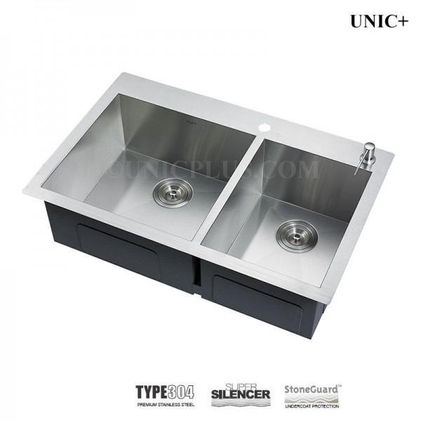 Modern 33 Inch Zero Radius Stainless Steel Top Mount Kitchen Sink - KTS3321D in Vancouver