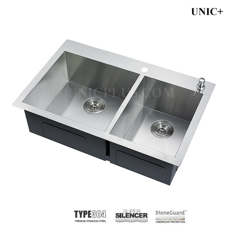 33 Inch Zero Radius Stainless Steel Top Mount Kitchen Sink Kts3321d In Vancouver