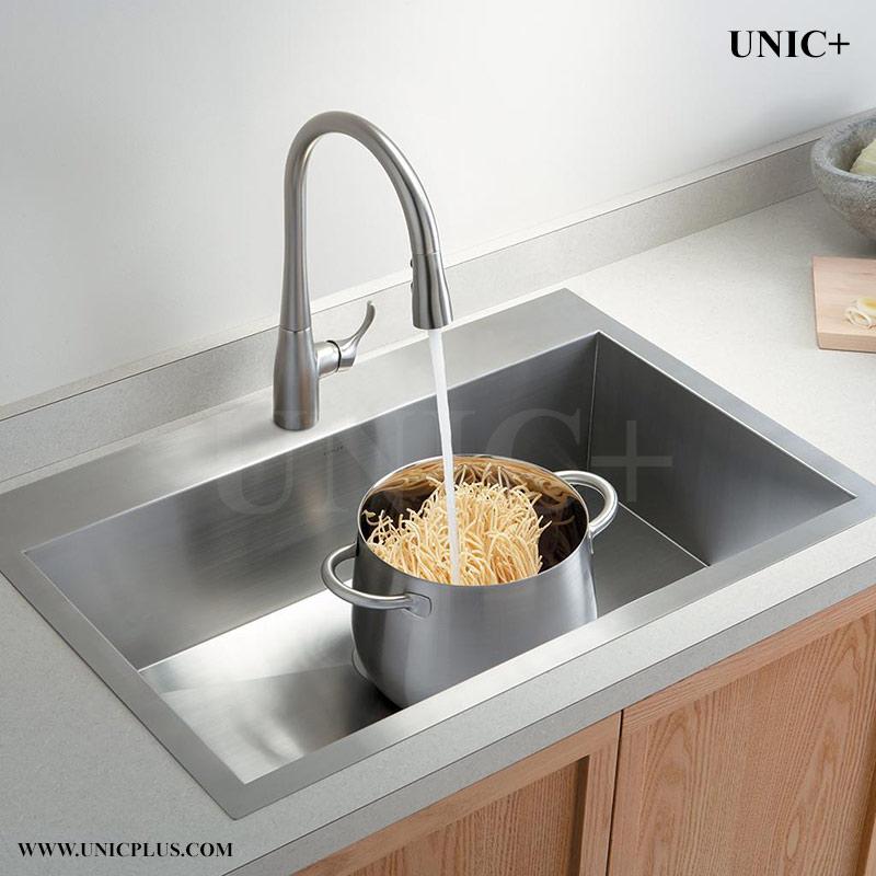 30 Inch Zero Radius Stainless Steel Top Mount Kitchen Sink