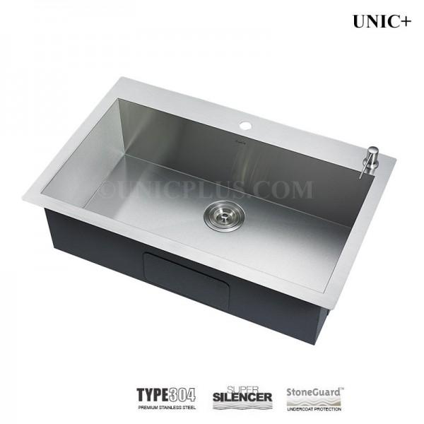 Modern 33 Inch Zero Radius Stainless Steel Top Mount Kitchen Sink - KTS3321S in Vancouver