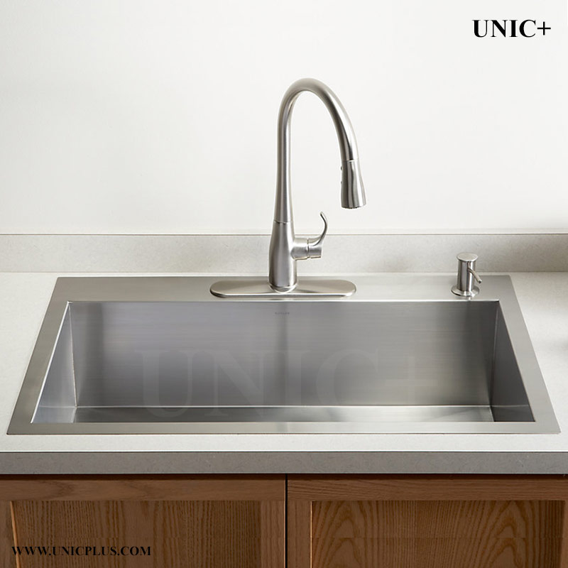 stainless steel top mount kitchen sinks 30 inch zero radius stainless steel top mount kitchen sink 9422