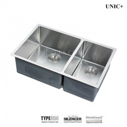 30 Inch Small Radius Style Stainless Steel Under Mount Double bowl Kitchen Sink (60/40) - KUD3018B R