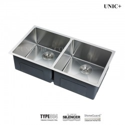 31 Inch double bowl 50/50 Small Radius Style Stainless Steel Under Mount Double bowl Kitchen Sink - KUD3118A R