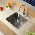 Modern 17 Inch Small Radius Style Stainless Steel Under Mount Kitchen Bar Sink - KUR1718 in Vancouver