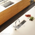 Modern 23 Inch Small Radius Style Stainless Steel Under Mount Kitchen Bar Sink - KUR2385 in Vancouver
