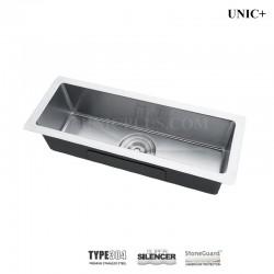 23 Inch Small Radius Style Stainless Steel Under Mount Kitchen Bar Sink - KUS2385 R