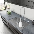 Modern 27 Inch Small Radius Style Stainless Steel Under Mount Kitchen Sink - KUR2718 in Vancouver