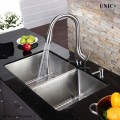 Modern 29 Inch Small Radius Style Stainless Steel Under Mount Kitchen Sink - KUR2918D in Vancouver