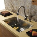 Modern 29 Inch Small Radius Style Stainless Steel Under Mount Kitchen Sink - KUR2918S in Vancouver