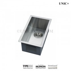 11 Inch Zero Radius Style Stainless Steel Undermount Kitchen Bar Sink Kus1118
