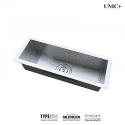 23 Inch Zero Radius Style Stainless Steel Under Mount Kitchen Bar Sink - KUS2385 Z