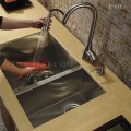 Modern 32 Inch Zero Radius Style Stainless Steel Under Mount Kitchen Sink - KUS3218D in Vancouver