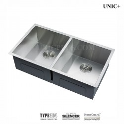 33 Inch Zero Radius Style Stainless Steel Under Mount Kitchen Sink - KUS3318A