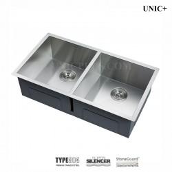 33 Inch Zero Radius Style Stainless Steel Under Mount Kitchen Sink - KUD3318A Z