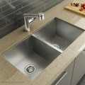 Modern 33 Inch Zero Radius Style Stainless Steel Under Mount Kitchen Sink - KUS3318A in Vancouver