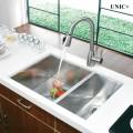 Modern 33 Inch Zero Radius Style Stainless Steel Under Mount Kitchen Sink - kud3318c in Vancouver